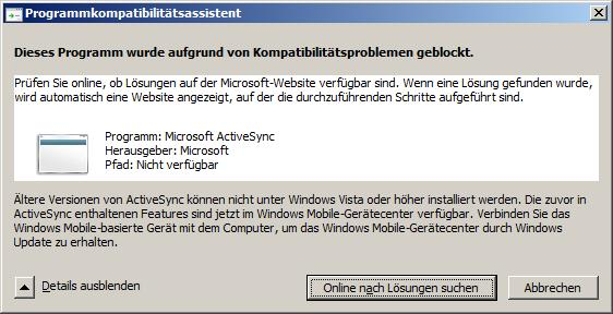 activesync 4.5  for windows 7 64 bit